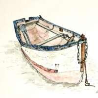 Original Watercolour of a Boat thumbnail