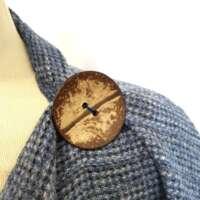 Handwoven Harris Tweed Dusty Blue Shawl thumbnail