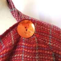 Handwoven Harris Tweed Sunset Shawl thumbnail