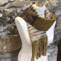 Gold Scarf with Twisted Fringe thumbnail
