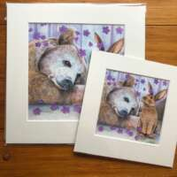 The Bear and the Bunny Mounted Print thumbnail