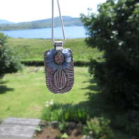 Handcrafted Silver Pendant with Sapphire thumbnail