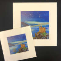 Urquhart Castle Starry Night Print thumbnail