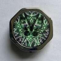 Celtic Green Cat Pill Box thumbnail