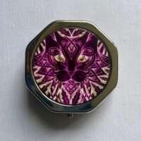 Celtic Purple Cat Pill Box thumbnail