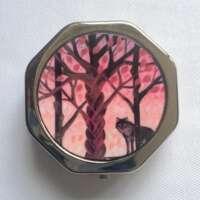 Celtic Lone Wolf Autumn Pill Box thumbnail