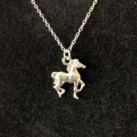 Child Horse Charm Silver Necklace thumbnail