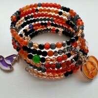 Halloween Memory Wire Bracelet thumbnail
