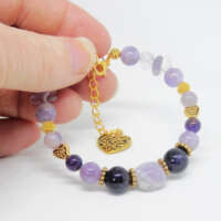 Amethyst Memory Wire Bracelet thumbnail
