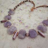 Amethyst and Moonstone Fairy Necklace thumbnail