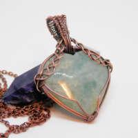 Aquamarine Heart Necklace thumbnail