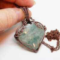 Aquamarine Heart Necklace thumbnail