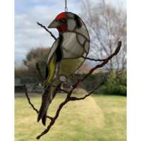 Stained Glass Goldfinch Suncatcher thumbnail