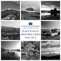 Pack of 8 Black and White Cards thumbnail