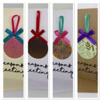 Pack of 4 Pink Bauble Cards thumbnail