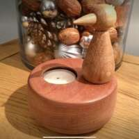 Wooden Bird Tealight Holder thumbnail