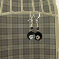 Black Onyx Earrings with Spiral Detail thumbnail