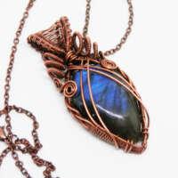 Blue Labradorite Swirly Necklace thumbnail