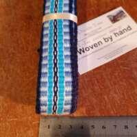 Handwoven Blue Cotton Braid thumbnail