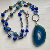 Boho Blue Agates Necklace thumbnail
