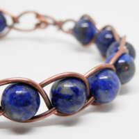 Braided Lapis Lazuli Bracelet thumbnail