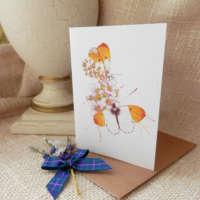 'Flutter By' Butterflies Greeting Card thumbnail