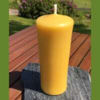 Celtic Beeswax Round Smooth Pillar Candle thumbnail