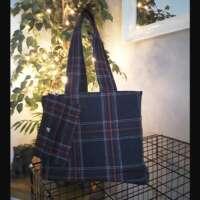 Black and Red Tartan Handbag and Purse thumbnail