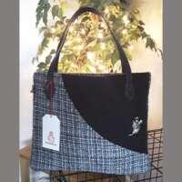 Black Harris Tweed Handbag and Purse thumbnail