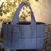 Black and White Dogtooth Handbag and Purse thumbnail