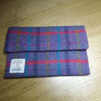 Red Stripe Harris Tweed Make-up Bag thumbnail