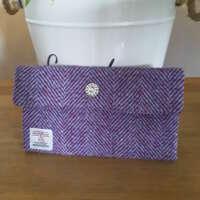 Purple Herringbone Harris Tweed Make-up Bag thumbnail