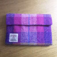 Pink and Lilac Harris Tweed Make-up Bag thumbnail