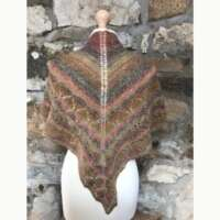 Pink and Brown Diamonds Scarf thumbnail