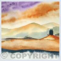 Pack of 5 Square Castle Cards thumbnail
