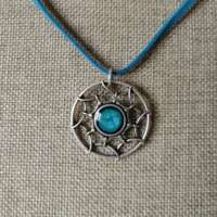 Celtic Open Design Pendant with Turquoise Detail thumbnail