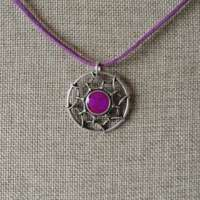 Celtic Open Design Pendant with Cerise Detail thumbnail