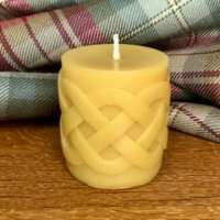 Celtic Beeswax pair of Celtic Candles thumbnail
