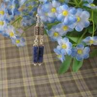 Celtic Drop Earrings with Sodalite thumbnail