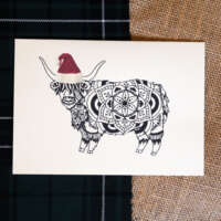 Christmas Highland Cow 4 Card Pack thumbnail
