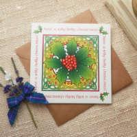 Holly Christmas Card thumbnail