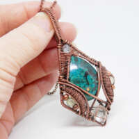 Wire Wrapped 'Elven' Style Necklace thumbnail