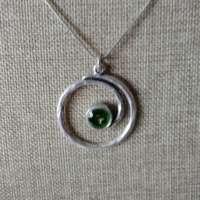 Circle Twist Green Pendant thumbnail