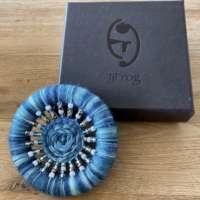 Dorset Button Brooch - Blue thumbnail