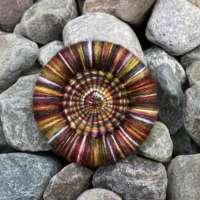 Autumn Dorset Button Brooch thumbnail