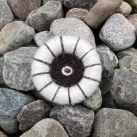 Dorset Button Brooch - Natural White thumbnail