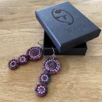 Dorset Button Beaded Earrings in Multiple Pinks thumbnail