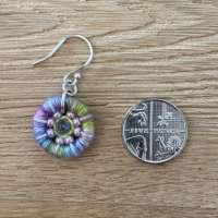 Spring Dorset Button Beaded Earrings thumbnail