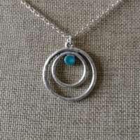 Circle Twist Turquoise Pendant thumbnail