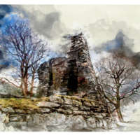 Dun Telve, Glenelg (Digital Watercolour) thumbnail